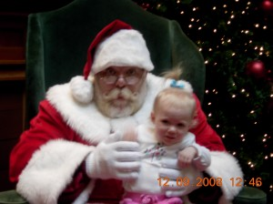 Attempt #2 to sit with Santa